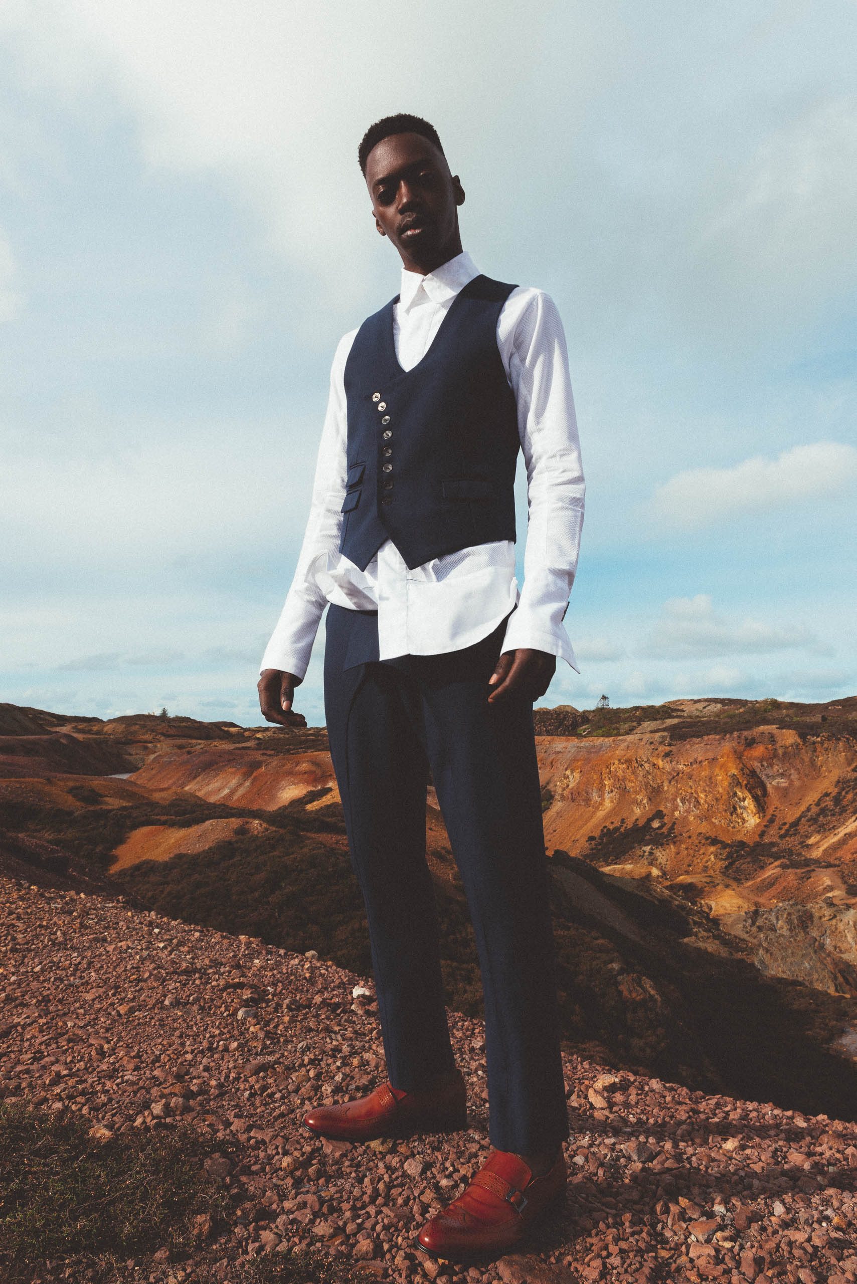 maurice whittingham after all the blues lookbook Tailored Waistcoat