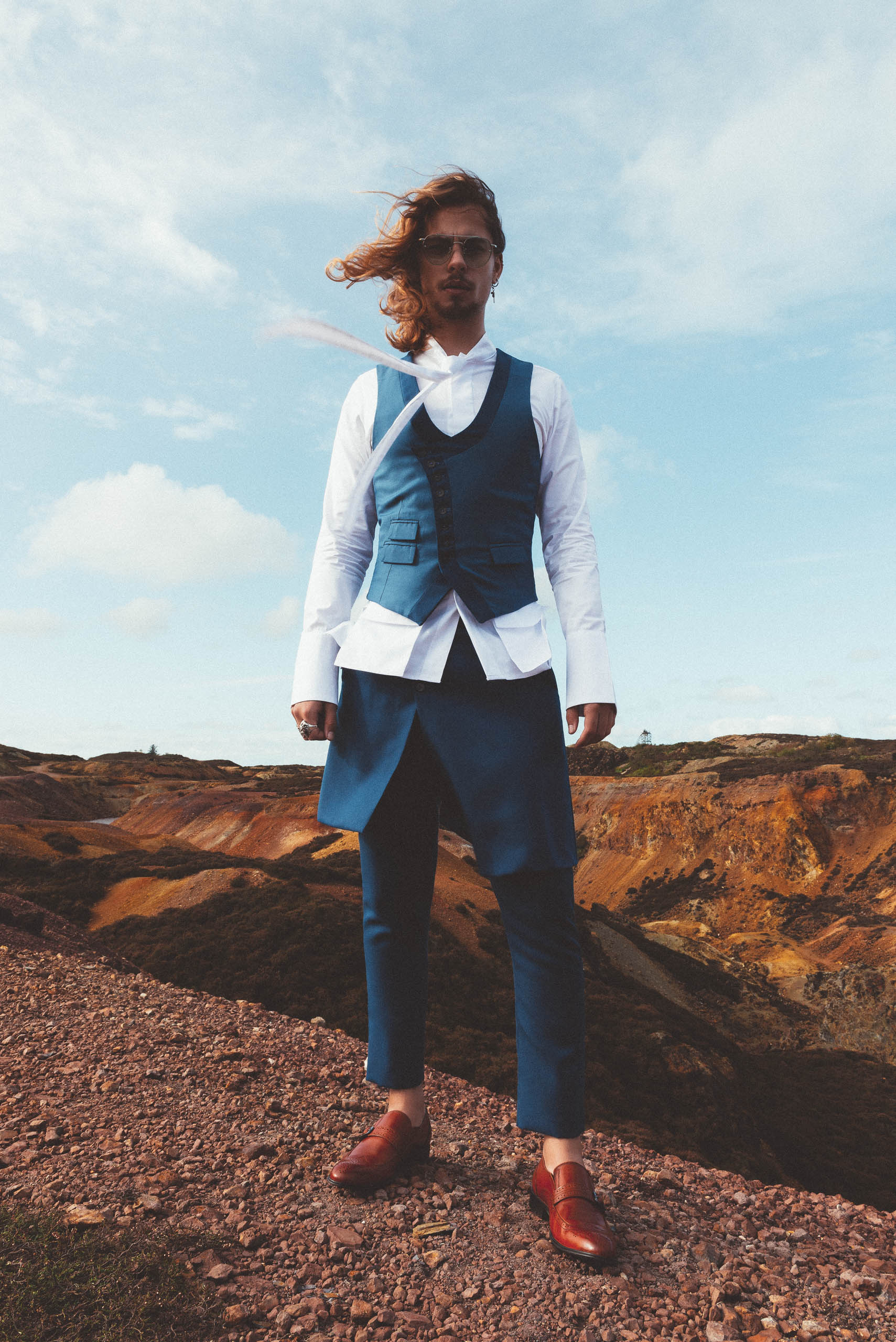 maurice whittingham after all the blues lookbook Detachable Kilt Trousers