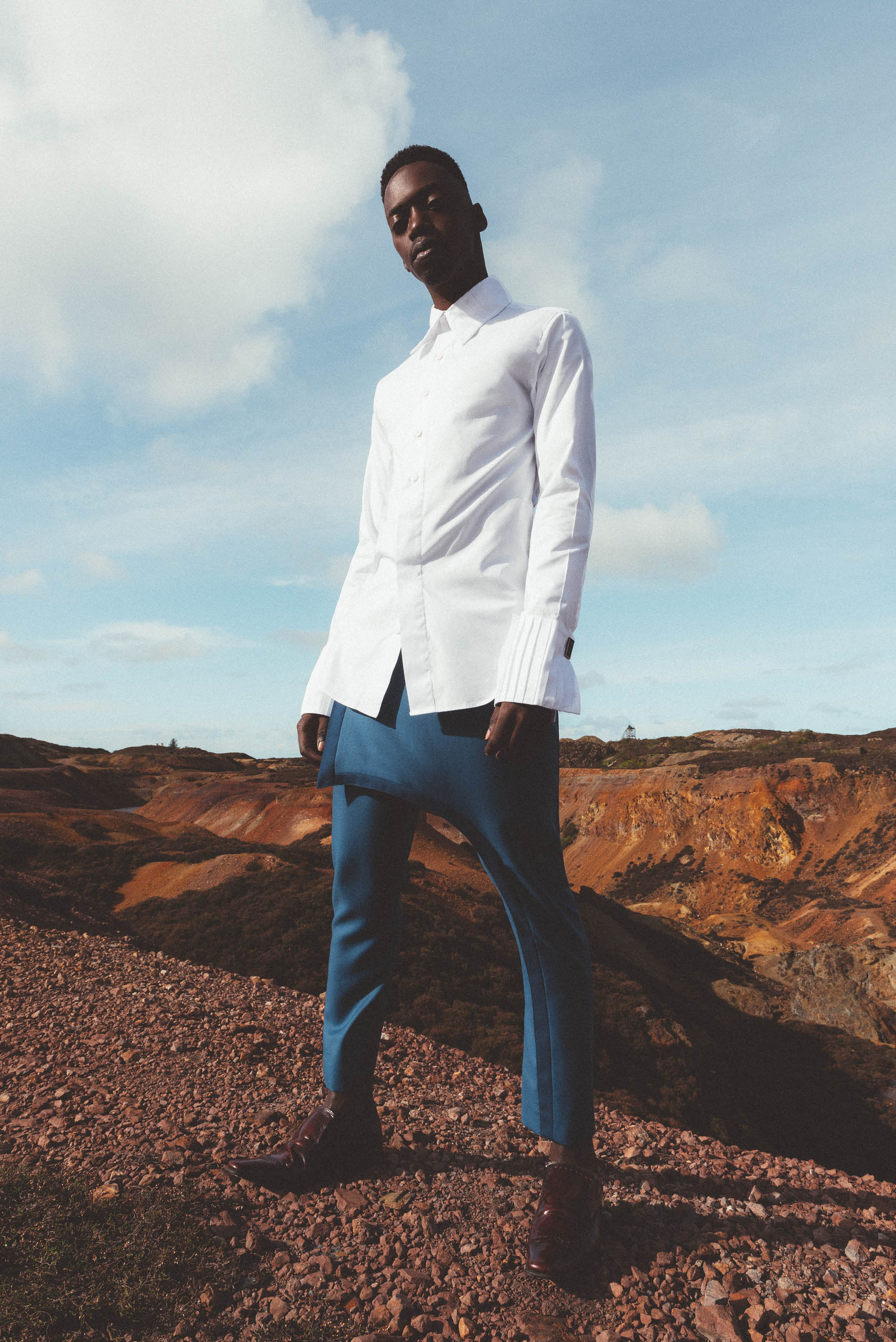 maurice whittingham after all the blues lookbook Contrasting Edge Kilt Trousers