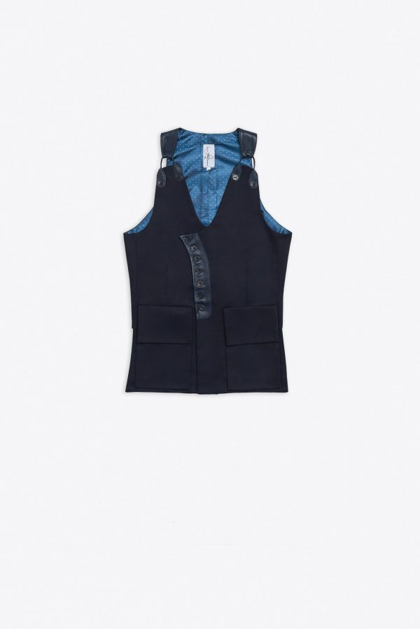 LEATHER BRACE ELONGATED WAISTCOAT