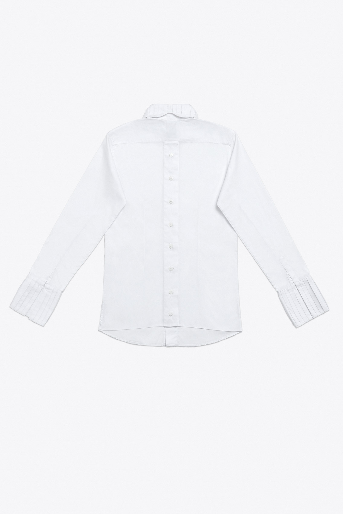 PLEATED COLLAR AND CUFF SHIRT