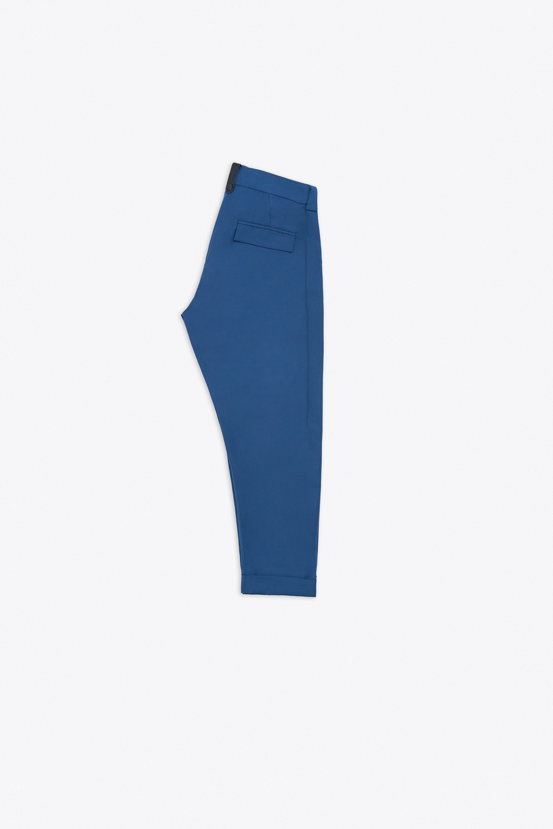 CONTRASTING EDGE SINGLE LEG KILT TROUSERS